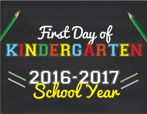 Personal Customized  First Day of Kindergarten School Sign | First Day of School chalkboard sign Photo Prop backdrop