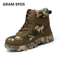 GRAM EPOS Unisexe Hiver Chaud En Peluche high top Bottes Hommes Travail Chaussures de sécurité En Acier Embout Anti-Fracas Ponction Preuve taille 46 Chaussures
