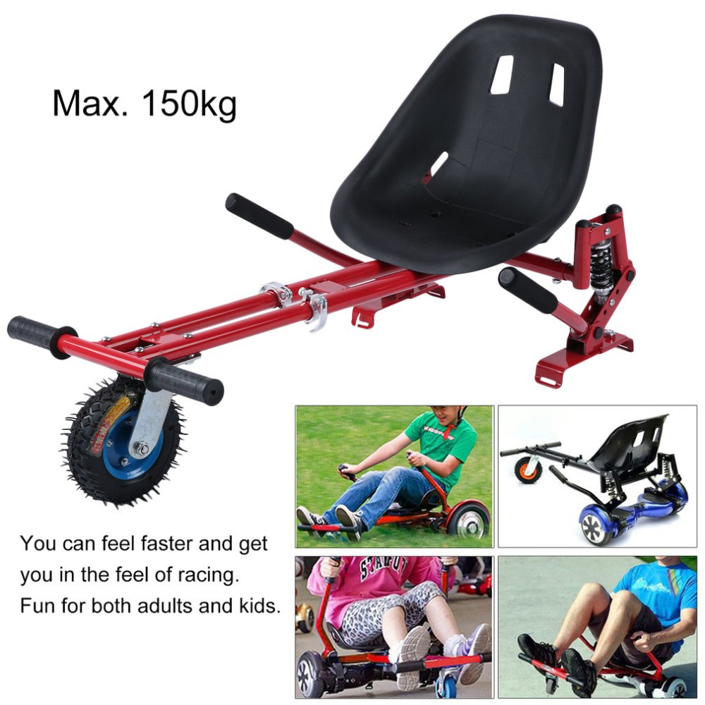 Hot Shock Absorber Go Kart Adjustable Hover Seat HoverKart For Swegway Hoverboard Accessories Electric Scooter For Adults Kids