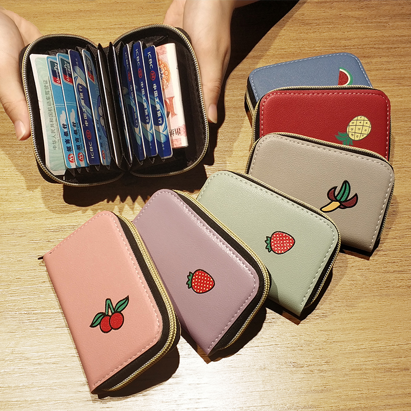 APP BLOG Cute Strawberry Women Travel Passport Cover ID Credit Cards Bag Case PU Leather Business Pillow Card Holder Wallet 2019 image