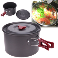 New 1pcs 3L Oxidation Aluminum Large Single Pot Portable Non Stick Outdoor Hiking Camping Fishing Mountaineering