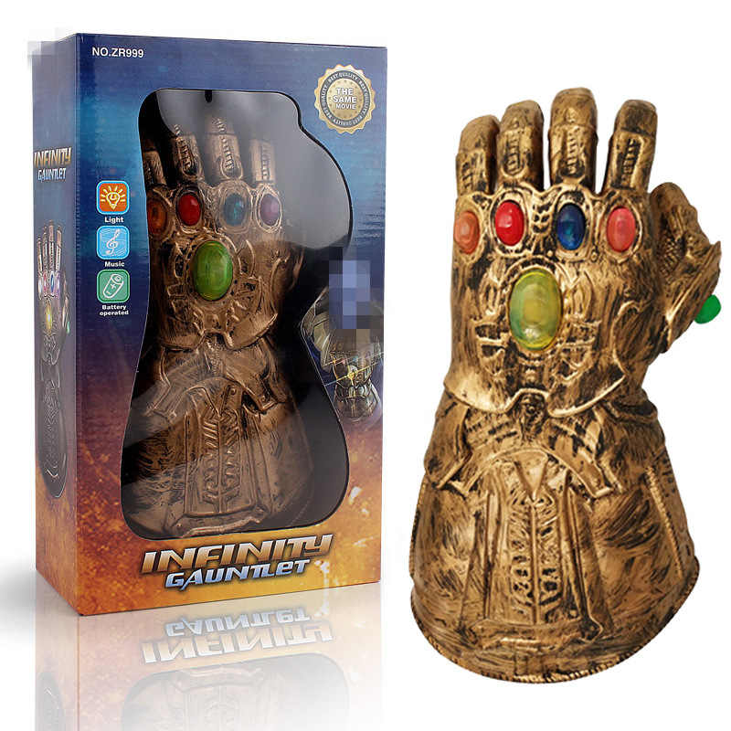 Novo the avengers 4 endgame super-herói thanos infinity gauntlet cosplay braço luvas vingadores led luva crianças criança snap mittens brinquedo
