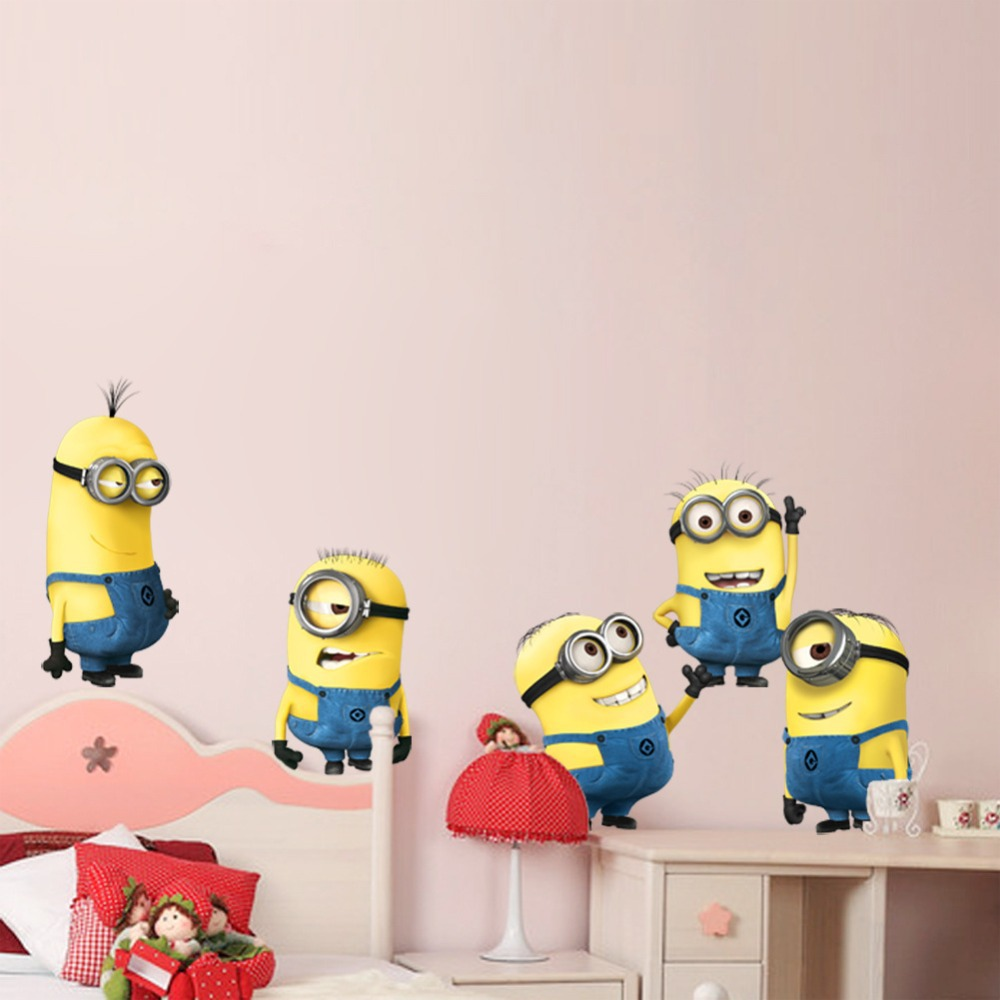 Minions Wallpaper For Bedroom Aliexpresscom Buy Wholesale Cartoon Despicable Me 2 Minions