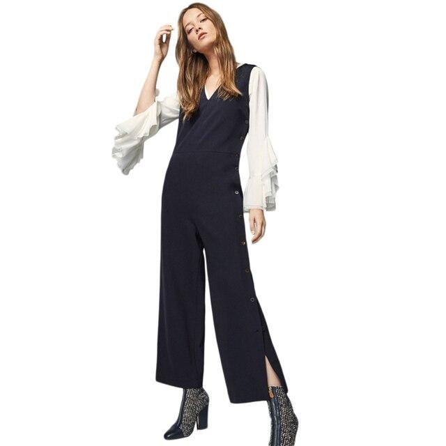 Womens Black Sleeveless Jumpsuit Rompers Designer Elegant Ladies