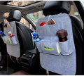 For KIA rio sportage ceed kia cerato soul black single Multi plush Pocket Storage Hanger Back Car Seat Cover Organizer Bag