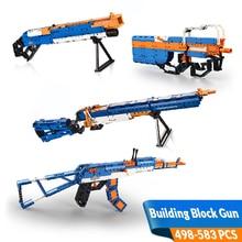 581PCS Technical Series DIY Building Gun Blocks Toys P90 Submachine Модель Ролевая игра Game Kit Совместимость Legos Подарок для мальчиков