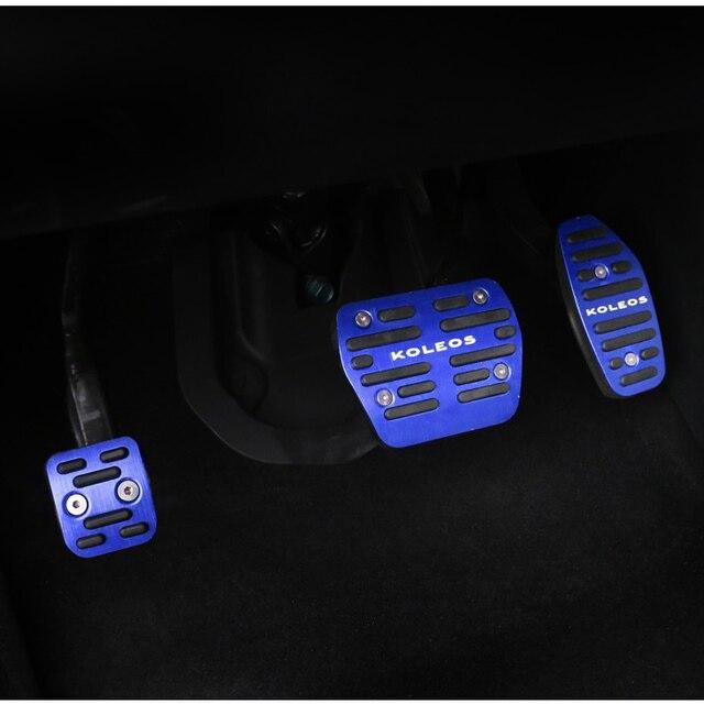 Luhuezu Aluminum Car Fuel Brake Pedal Cover For Renault Koleos  Accessories