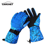 CARCHET Winter Warm Gloves Motorcycle Outdoor Sports Windproof Waterproof 30C Skiing Gloves Motorcycle Snowboard Gloves