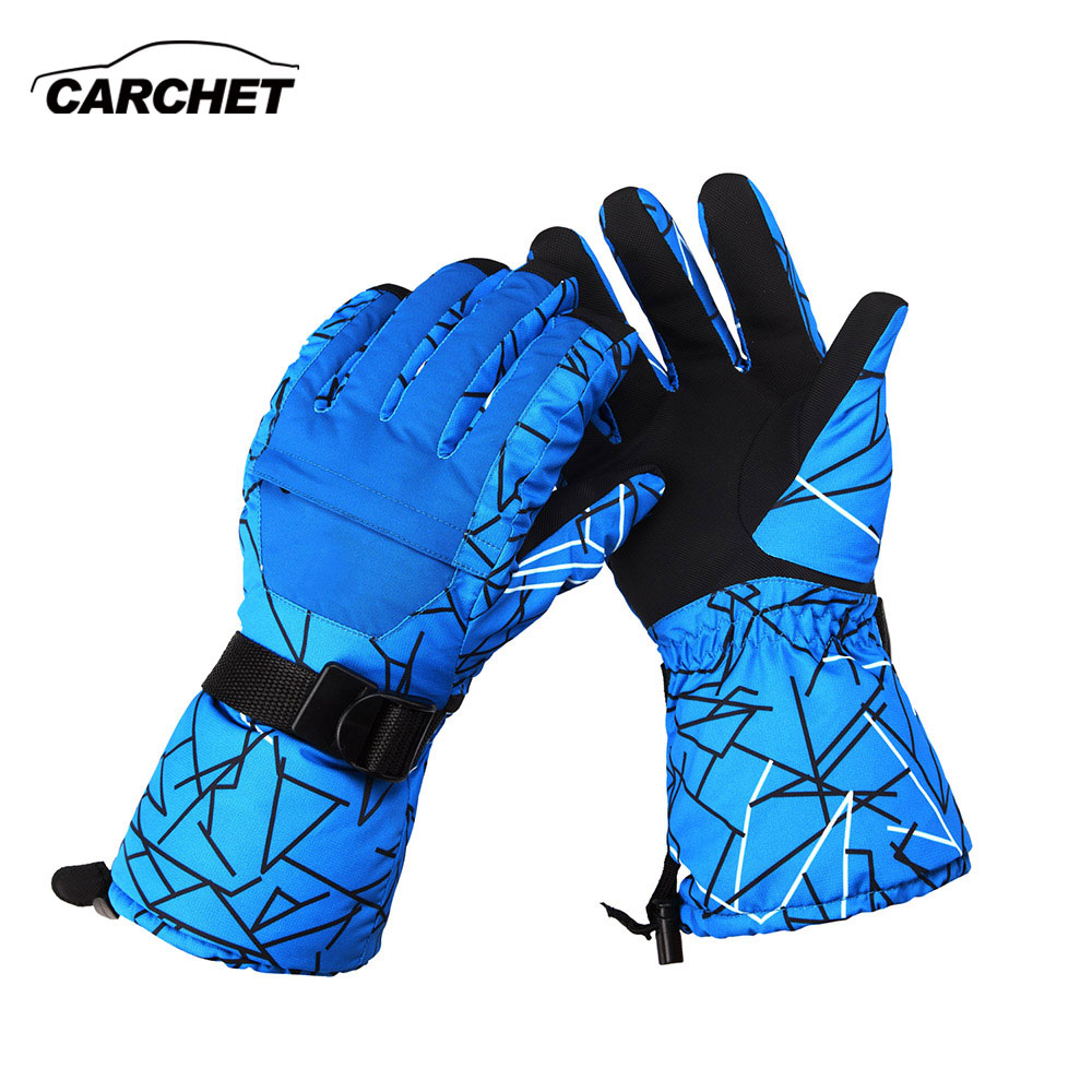 CARCHET Winter Warm Gloves Motorcycle Outdoor Sports Windproof Waterproof -30C Skiing Gloves Motorcycle Snowboard Gloves