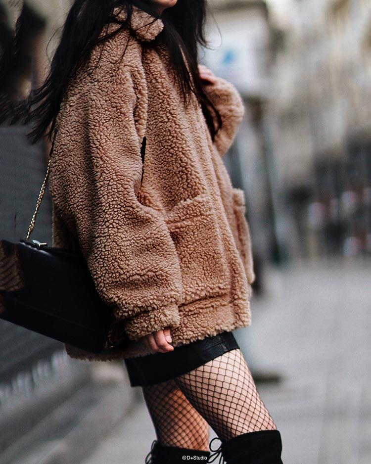 HTB1kOdFafvsK1RjSspdq6AZepXai Autumn winter jacket female coat 2019 fashion korean style plus size women teddy fur coat female casual jacket woman pusheen