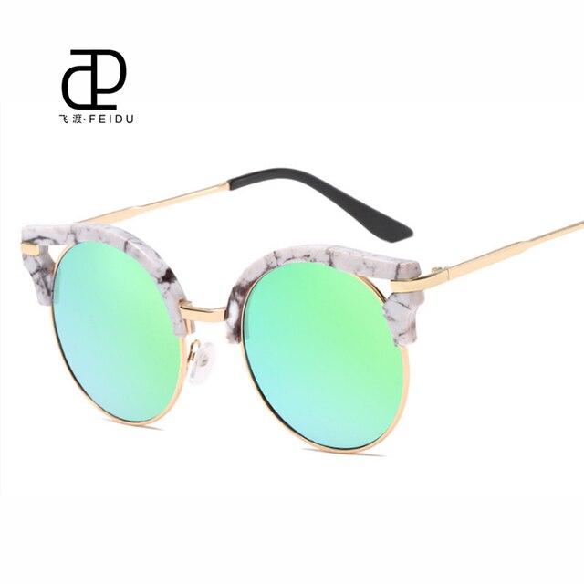 c3b6500d7d FEIDU 2017 Summer Style Fashion Cat Eye Sunglasses Women Eyewear Brand  Designer Round Lens Sun Glasses