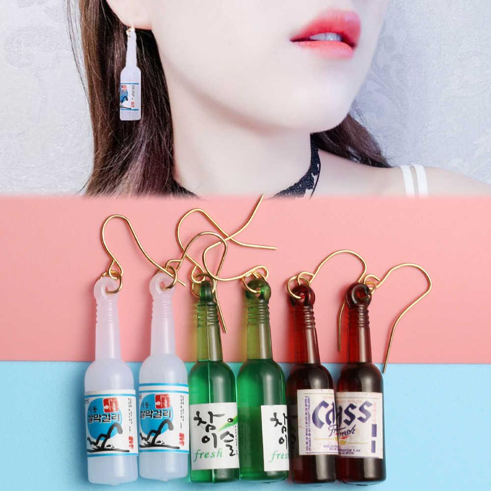 1 Mới Thời Trang Hàn Quốc Tay Nhựa Rượu Dang Bông Tai Thời Trang Thả Bông Tai Nữ Đảng Phụ Kiện Trang Sức
