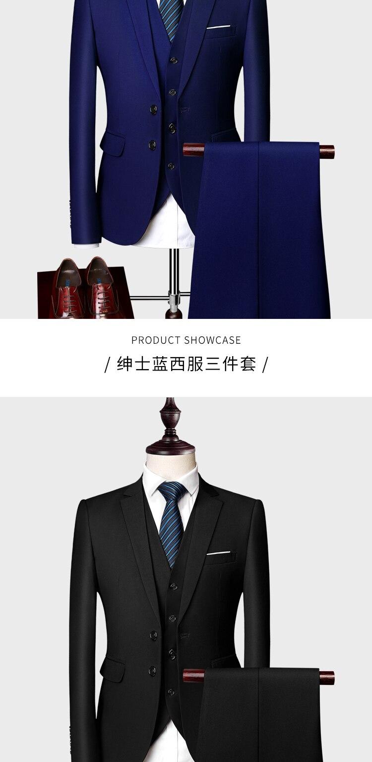 formal terno de negócios fino azul real