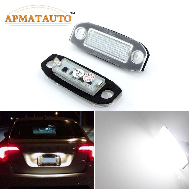Us 79 20 Off2 Sztuk Biały Led Oświetlenie Tablicy Rejestracyjnej Licencji żarówki Dla Volvo C30 C70 S80 V70 Xc70 S40 V50 S60 V60 Xc60 Xc90 Lampa