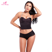 e68dce6cb7 Lover-Beauty Seamless Underwear Without Backing Bodysuit Invisible  Shapewear Black Bra Sexy Tight Body Suit lingerie for women