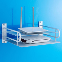 aluminum space frame router digital TV set-top box bracket optional wall-mounted  double layer