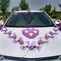3 스타일 한국어 웨딩 자동차 장식 꽃 시뮬레이션 rosse 자동차 장식 꽃 세트 장식 꽃 & 화환