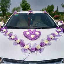 3 Style Korean Wedding Car Decorative Flower Simulation Rosse Car Decorative Flower Set Decorative Flowers & Wreaths