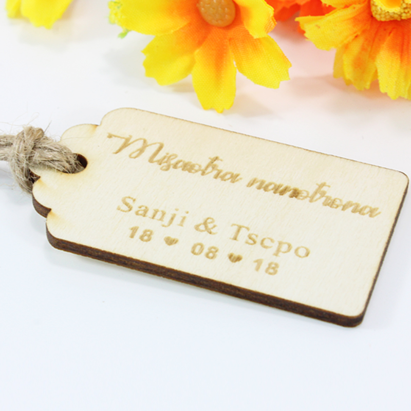 Personalized Wedding Thank You Tag,Engraved Rustic Gift Tags,Custom Wooden Wedding Tags,Personalized Bridal Wedding Favor Tag