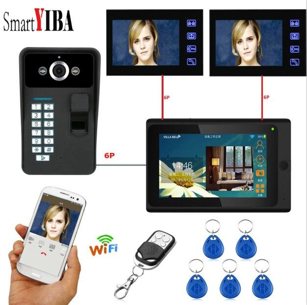 Ehrlich Yobang Sicherheit 7 Zoll Monitor Wifi Wasserdichte Video Tür Telefon Freisprecheinrichtung Intercom System Fingerprint Rfid Passwort Kamera GroßE Auswahl;