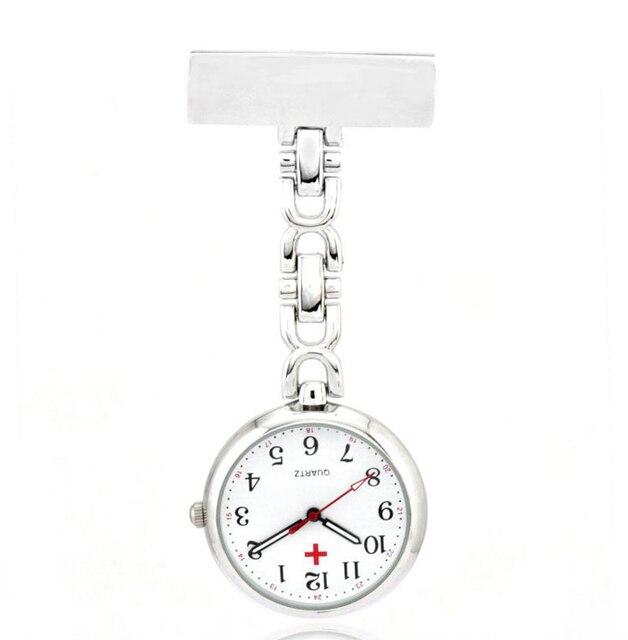 Fashion Medical Nurse Quartz Watches Doctor Stainless Steel Thicker Chain Brooch