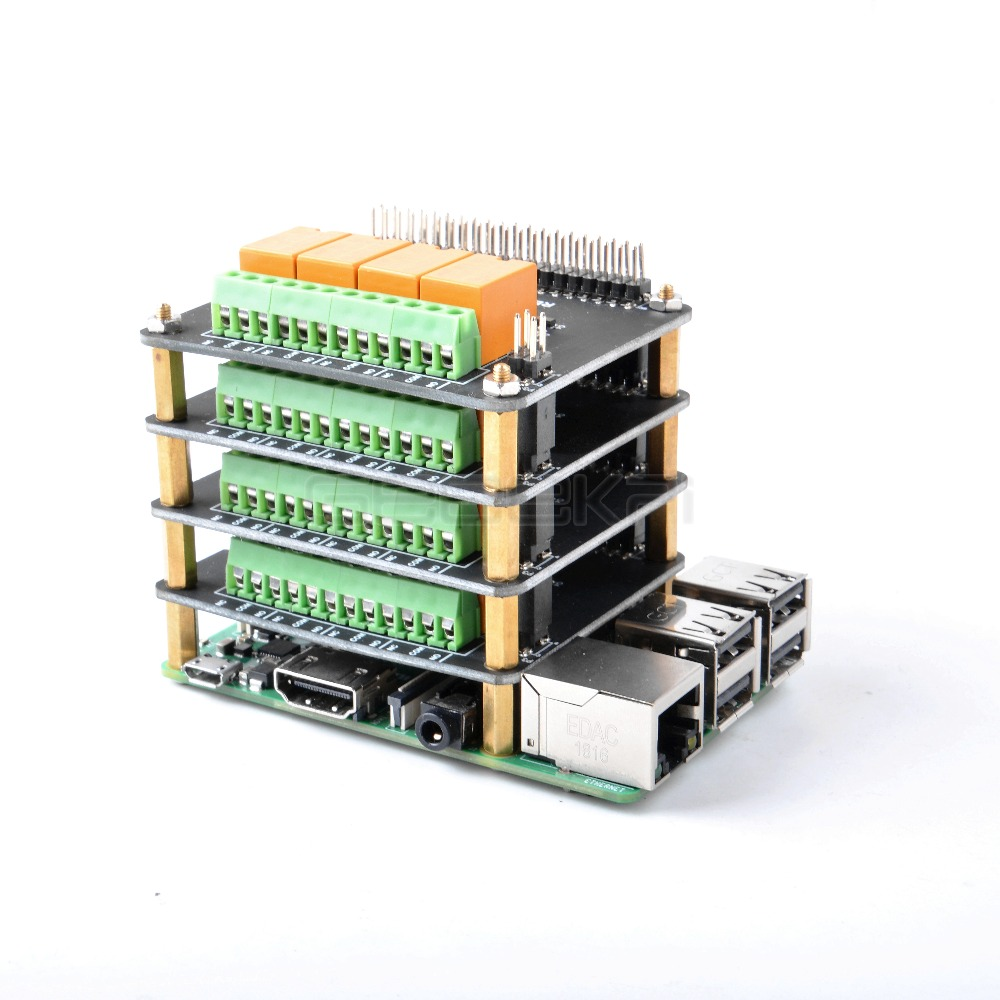 MakerFocus Raspberry Pi Expansion Board 4 Channel Relay Board Module Power Relay Module for Raspberry Pi 4B//3 Model B+//Raspberry Pi 3//2 Model B No Programming Required//Programmable