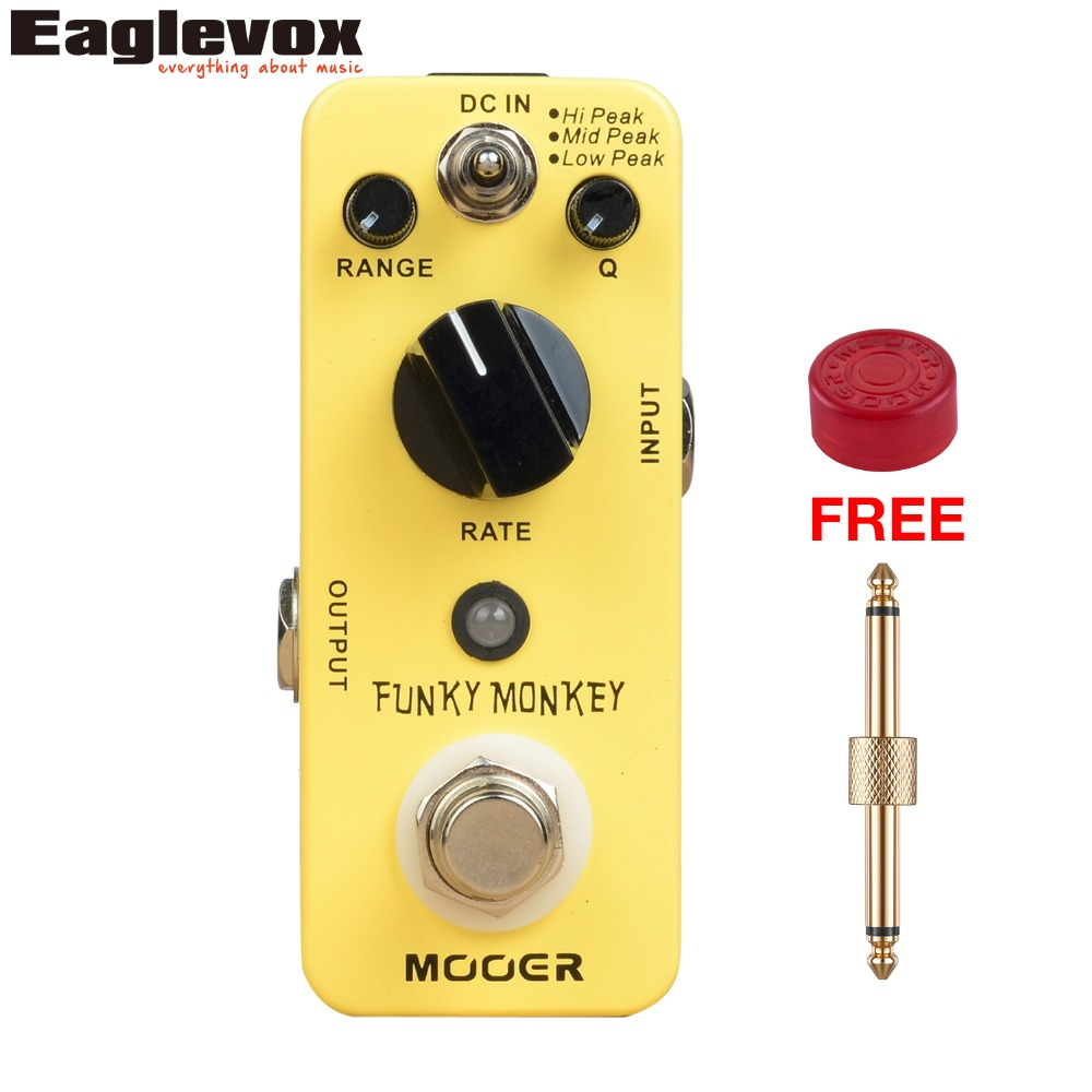 MOOER Funky Monkey Auto Wah Guitar Effect Pedal True Bypass Electric Mini Effects with Free Connector and Footswitch Topper MFT2 mooer reecho delay electric guitar pedal effect true bypass effects
