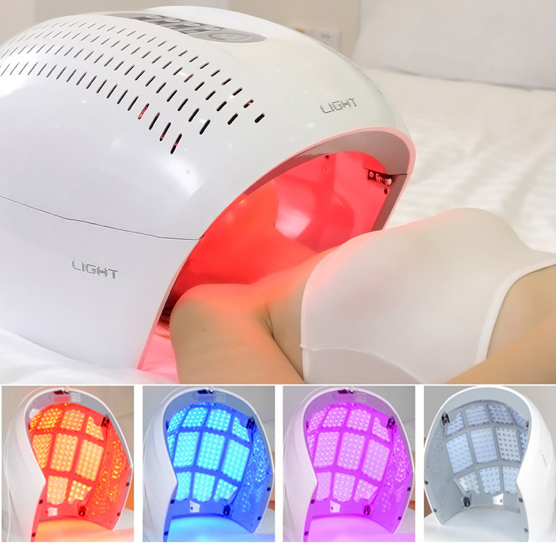 NEW PDT Photo Therapy Skin Lamp Beauty Machine LED Facial Mask SPA Phototherapy For Face Skin Rejuvenation Acne Remover