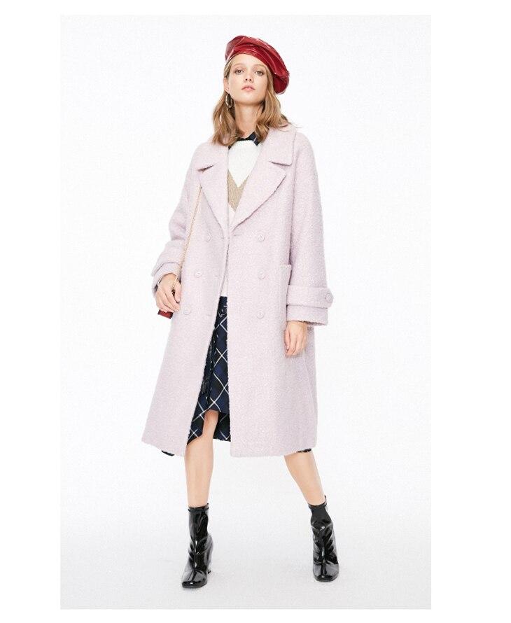 ONLY womens' winter new oatmeal Teddy hair long coat Loose version Rear slit hem design|118422505 18