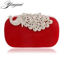 Luxus diamanten pfau frauen handtaschen samt strass abendtaschen für hochzeit braut party brieftasche mit ketten