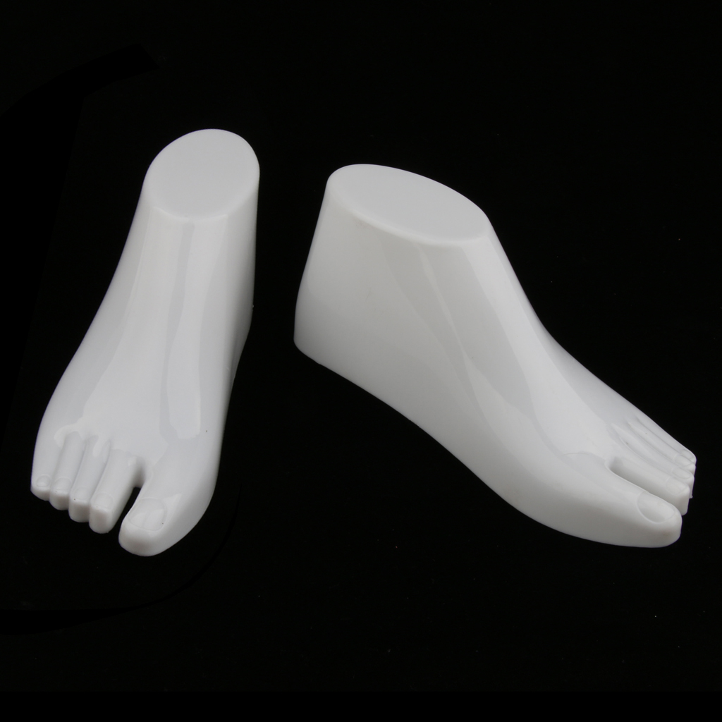 1 Pair Children Kid Feet Mannequin Socks Shoes Display Foot Model Stand Holder 180*75mm