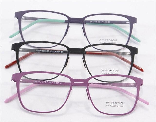 High End Резиновая Краска Очки По Рецепту Очки Оптические Frame Женщины Новая Мода Марка Дизайнер Глаз Очки Прозрачные Линзы SR1473
