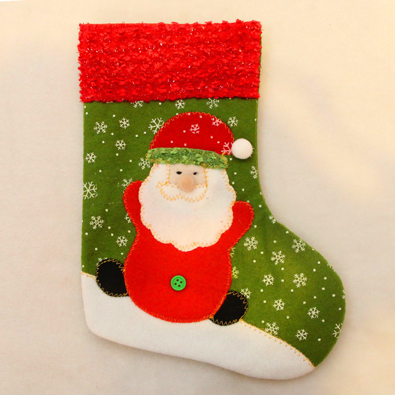2pcs set lovely christmas socks santa claus christmas decoration merry xmas santa claus and snowman christmas socks in stockings gift holders from home - Santa Claus Christmas Decorations