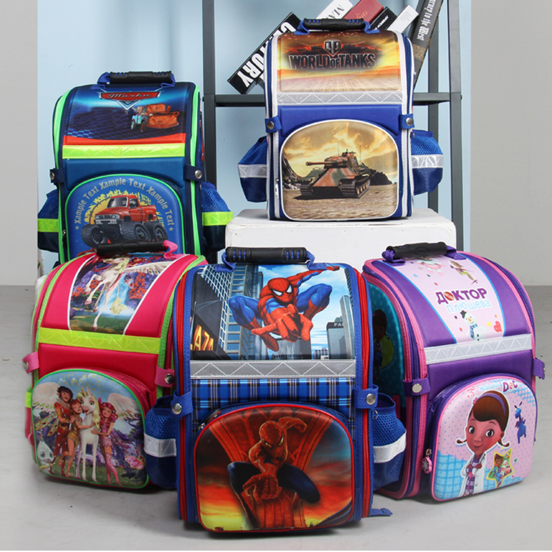 new arrivel Kids school Backpack spiderman tank EVA FOLDED orthopedic Children School Bags for boys and Girls mochila infantil kindergarten new kids school backpack monster winx eva folded orthopedic baby school bags for boys and girls mochila infantil