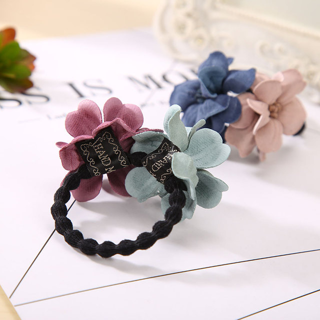 Elastic Hair Ring Flower Hair Rubber bands Rope Cloth Headbands Ties Hair Accessories for Women & Girls 3