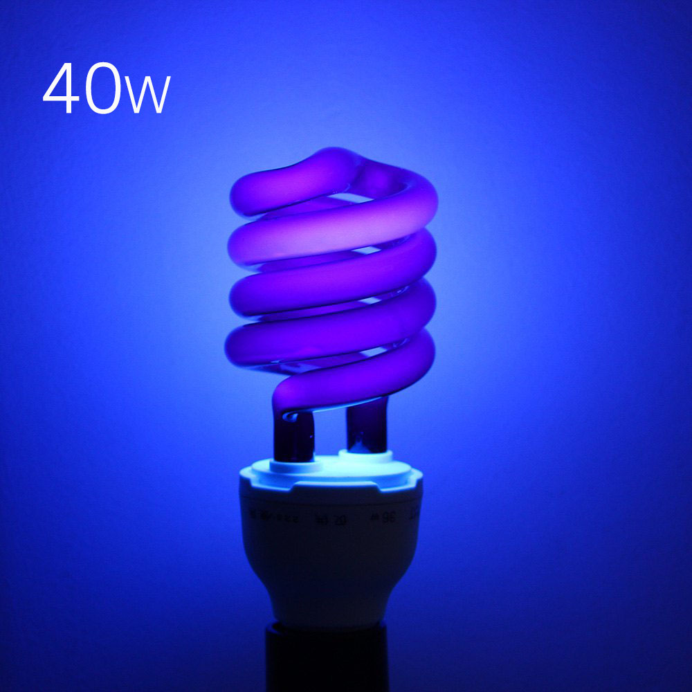 Uv Light Bulbs: 220V 36W 40W E27 Ultraviolet UV Spiral Energy Saving BlackLight Lamp With  Traps Insects Stage fluorescent,Lighting