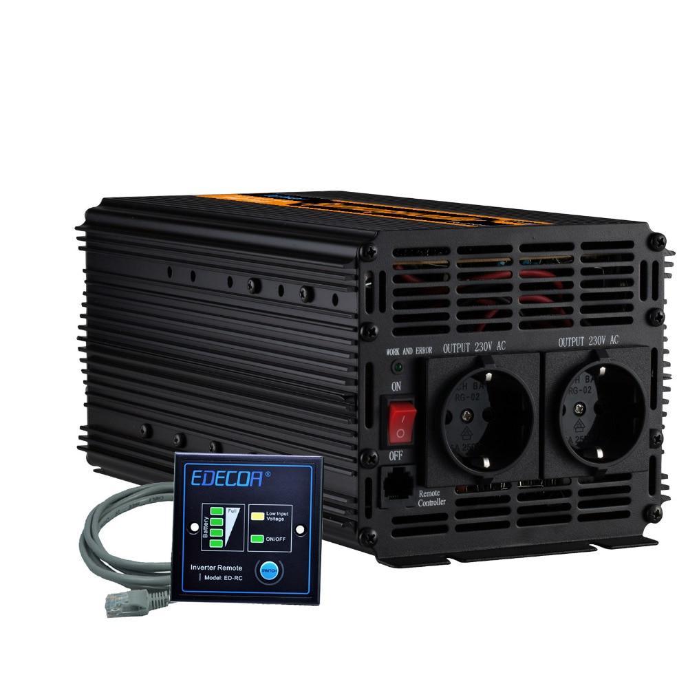 2000W power inverter DC 12V to AC 220v 230V 240V modified sine wave inverter with remote controller