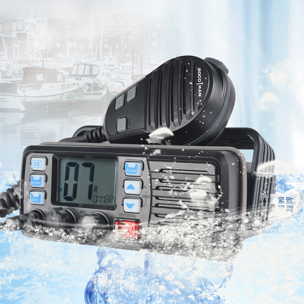 25W High Power VHF Marine Band Walkie Talkie Waterproof Marine Radio Walkie Talkie Sea Float Ham Inter-phone RS-507M