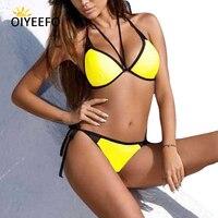 Oiyeefo 12 Stile Push Up Bikini Halter Badeanzüge Frauen Großen Badebekleidungsfrau Sexy Strand Tragen KANN Push-up-badeanzug XXL