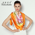 Hand-painted Silk Scarf 2016 New Spring & Autumn Big Square 100% genuine silk scarf 110*110cm high-end women scarf shawls FW221