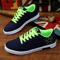 2017 Summer Shoes Men New Green Canvas Shoes Lace Up Male Dress Shoes Breathable Climbing Shoes Men Zapatos Hombre Chaussure B2