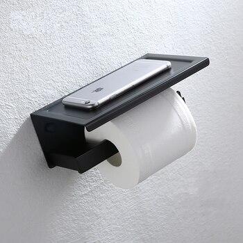 Free shipping New Bathroom Toilet black stainless steel Paper holder Hotel Paper roll holder Tissue box-M6357