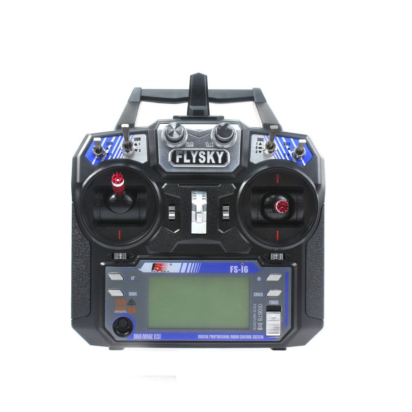 FS i6 6CH 2 4G AFHDS 2A LCD Transmitter Radio System for FPV Racer Mini Drone