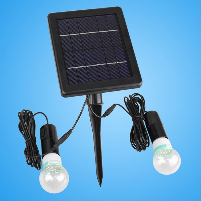 Outdoor/Indoor Solar Powered LED Lighting System Light Lamp Black md966 mini solar powered charger w 3 led lamp black