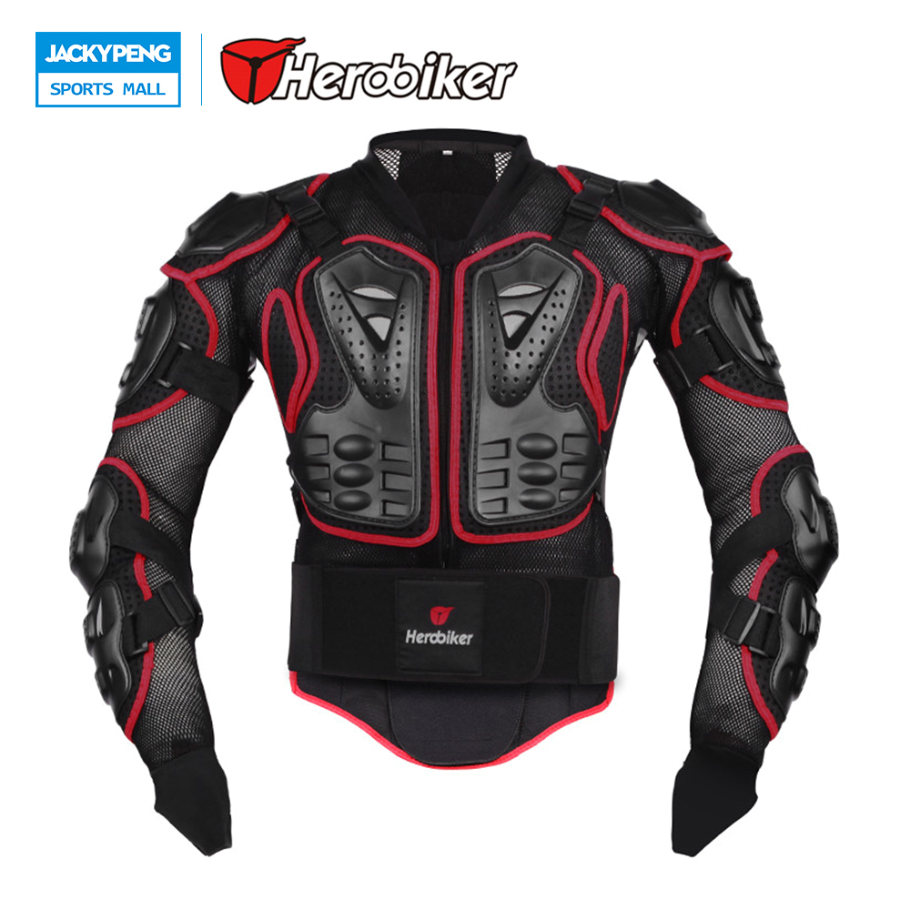 цена на Herobiker Professional Motorcycle Protection Motorcross Racing Full Body Armor Spine Chest Protective Jacket Gear Back Support