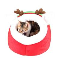 Pet Waterloo Christmas Elk Dog House Winter Warm Cat Dog Bed For Small Dogs Nest Kennel
