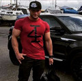 Newest Brand Muscle Men's T-shirt Short Sleeve Tight Bodybuilding and Fitness Tee Shirt Tops Sportswear Cotton T shirt Clothing
