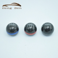 HB Carbon Fiber MUGEN Gear Shift Knob 6 Speed Universal Manual Automatic Spherical Shift Knob