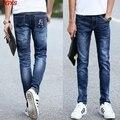 2017 мужские джинсы, воспитать в себе мораль в талии эластичные джинсы мода досуг брюки