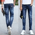 2017 men's jeans, cultivate one's morality in the waist elastic jeans The fashion leisure trousers